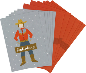 Einladungskarten-Set Cowboy - ava&yves