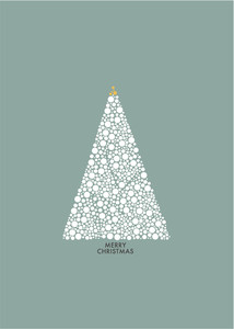 Weihnachtliche Postkarte Merry Christmas - Papier Ahoi