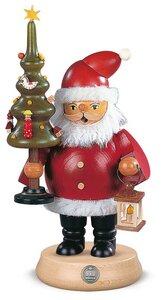Räuchermann Weihnachtsmann mit Bäumchen 23 cm mittelgroß - Müller Seiffen