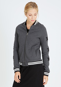 Zip Jacket College #STARS anthracite grau - recolution