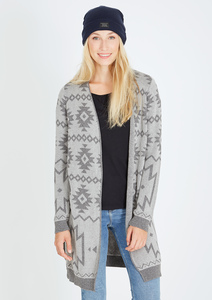 Knit Cardigan #AZTEC grau - recolution