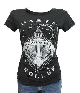 Girlie Shirt 'Anker', T-Shirt aus Biobaumwolle - Coaster Roller