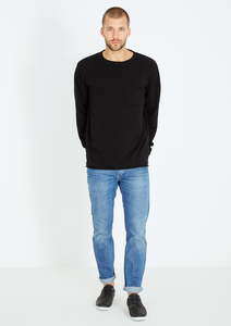 Light Knit Longsleeve #POCKET schwarz - recolution