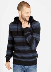Knitted Hoodie #STRIPES blau gestreift - recolution