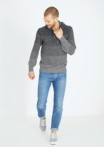 Knitted Hoodie #FADING grau - recolution