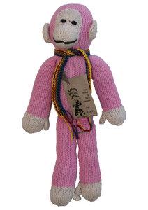 Lustige Knuddel- oder Kuschel-Affen aus Biobaumwolle - handgestrickt aus Kenia - Kenana Knitters