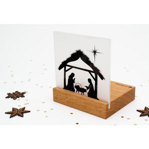 Weihnachtskrippe Mini Bethlehem (Eiche) - klotzaufklotz