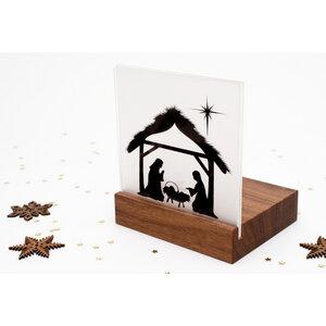 Weihnachtskrippe Mini Bethlehem (Nussbaum) - klotzaufklotz