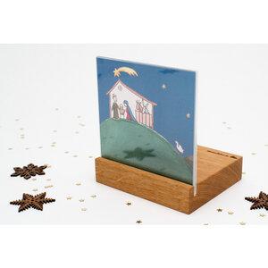 Weihnachtskrippe Mini Landschaft (Eiche) - klotzaufklotz