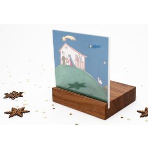 Weihnachtskrippe Mini Landschaft (Nussbaum) - klotzaufklotz
