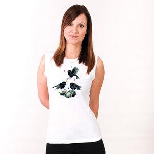 Black Robins - Frauentop aus Bio-Baumwolle - Coromandel