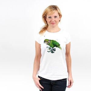 Kakapo - Frauenshirt mit Print aus Biobaumwolle - Coromandel
