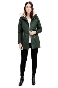 Ladies' Nordic Lights Parka - Dark Army Green - Hoodlamb