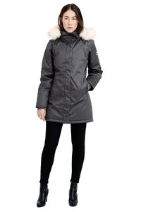 Ladies' Nordic Parka - Grey - Hoodlamb