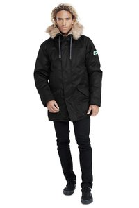 Men's Nordic Parka - Black - Hoodlamb