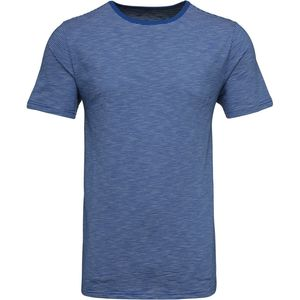 Short sleeve striped t-shirt - Strong Blue - KnowledgeCotton Apparel
