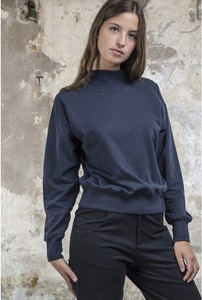 Neckshirt Sweat Blue - thinking mu