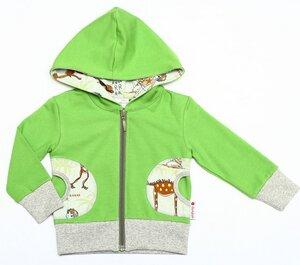 Kapuzenjacke 'Dinotraum' aus 95% Bio-Baumwolle, 5% Elasthan (GOTS) - Cheeky Apple