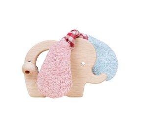 Efie rosa/hellblau Holz Elefant - Efie