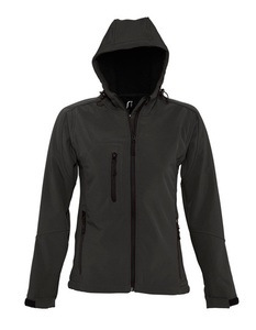Womens Hooded Softshell Jacket Amelie - University of Soul