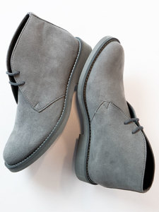 Women's Desert Boots Grey - Wills Vegan Shoes