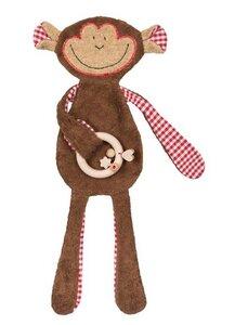 Efie Schmusetuch Affe, Geschenkset mit Holzring - Efie