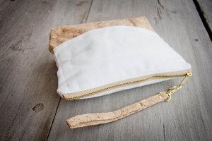 Kleines Täschchen aus Recycling-Kork und Baumwolle - Vegan - By Copala