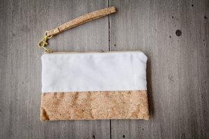 Kleines Täschchen aus Recycling - Vegan - Kork und Baumwolle - BY COPALA