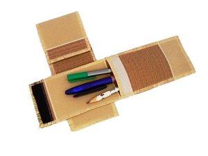 Etui für Stifte, Vanille-Caramell, Upcycling von Leesha - Leesha