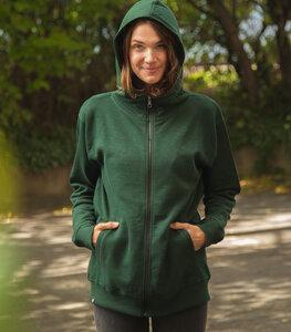 päfjes Basic Unisex Zipper Dark Green Slub - Organic & Fair - päfjes