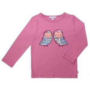 Shirt Eulen Applikation magenta GOTS - Enfant Terrible