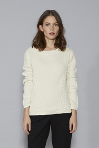 SALOME Organic Cotton Knit - Cream - Frieda Sand