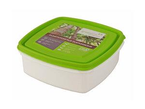 Quadratische Frischhaltebox aus Biokunststoff  1,25l - greenline