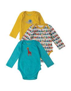3er Pack Baby-Langarm-Bodys aus Bio-Baumwolle - Frugi