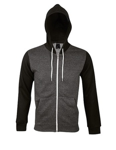 Hooded Zipped Jacket Silver Dennis - University of Soul