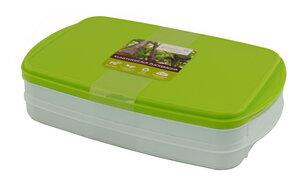 Stapelbox aus Biokunststoff 2er Set mit Deckel - greenline