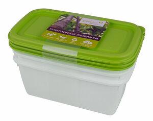 Biokunststoff 3er Set Tiefkühldosen 0,75l - greenline