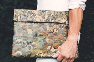 Laptop Hülle mit African Safari print - The Wren Design