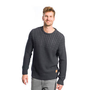 Cold Lake Strickpullover Dunkelgrau - bleed