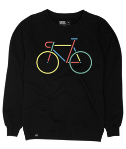 Malmoe Sweatshirt Color Bike Embroidery - DEDICATED