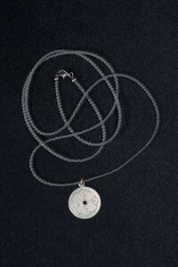 Bergkristallkugelkette mit Vintage Anhänger Silber - Einzelstück - MishMish by WearPositive