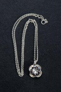 Silberkette mit Vintage Anhänger Bergkristall  - Einzelstück - WearPositive