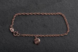 Einzelstück: Vintage Gliederarmband mit Anhänger Herz - MishMish by WearPositive