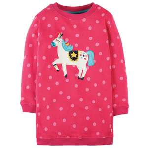 Eloise Jumper dress Raspberry Pony GOTS - Frugi