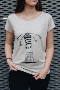 Lighthouse Circus Frauen Shirt aus Modal / FAIR WEAR - ilovemixtapes