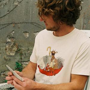 minttu - Sharing is Caring - Mens Low Carbon Organic Cotton T-Shirt - Nikkifaktur