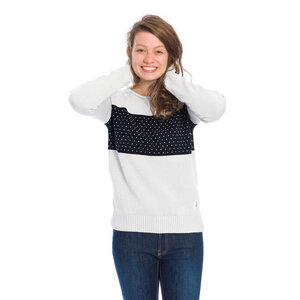 Block Pullover Damen Hellgrau - bleed