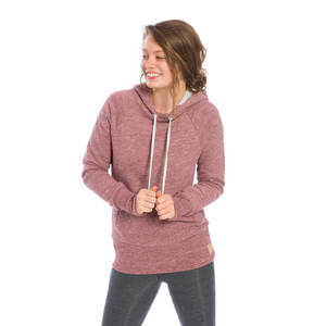 Mountain Kapuzenpullover Damen Rostrot - bleed