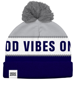 Jacquard Beanie Good Vibes Only Mütze - DEDICATED