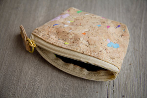 Täschen aus recyceltem Kork- Vegan, Etui, Mini-Portemonnaie (Color) - BY COPALA